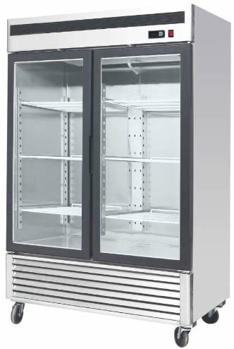 "54.5"" 2 Door Upright Stainless Steel Glass Window Reach In Freezer Merchandiser Display Case, MCF-8703, 45 Cubic Feet, Commercial Grade 41WjVdCY8pL"