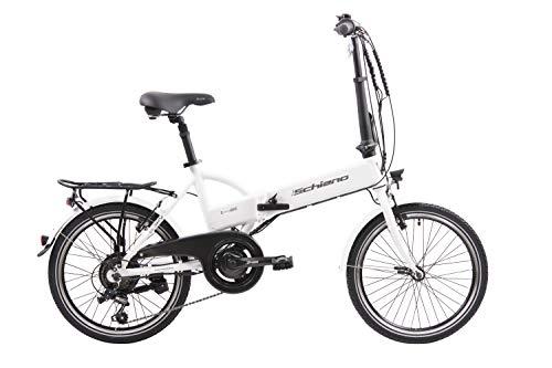 F.lli Schiano E- Sky, Bicicletta elettrica Pieghevole Unisex Adulto, Bianca, 20'' 1 spesavip