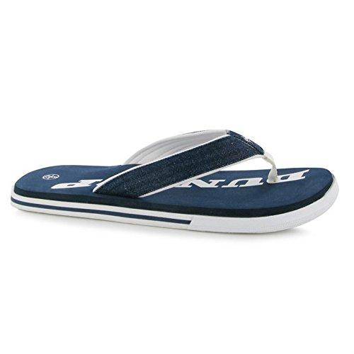 Dunlop Herren Vulcanised Flip Flops Sommerschuhe Strand Schwimmbad Schuhe Navy
