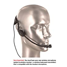 AV-JEFE Professional Sweat-Proof Headset Microphone for Aerobic / Fitness Class_ work for Sehnnheiser Wireless Systems
