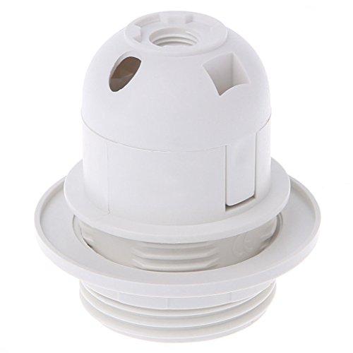 E27 Edison Screw Cap Socket White/Black Pendant Ceiling Light Lamp Bulb Holder Color white by 2011accecity (Image #1)