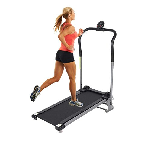 Homgrace Folding Manual Treadmill Running Machine. Mini Silent Home Fitness Training Machine With LED Display. Suitable for Children Use