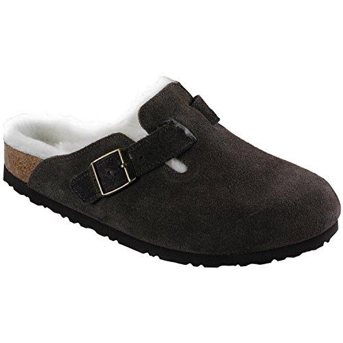 Birkenstock Boston Shearling Lined Mocha Suede Unisex Clogs Size 36N ()