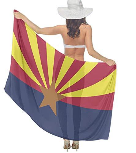 Chiffon Scarf for Women- Oversize & Lightweight Arizona State Flag Sunscreen Shawls, Beach Wrap, Head Scarf, Neck Scarves, Fashion Shawls For Women Girls, 70.8 x 39 -