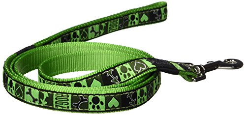 "Premium Pattern Ribbon Designer Dog Leash for Large Dogs, 3/4"" wide, 6"