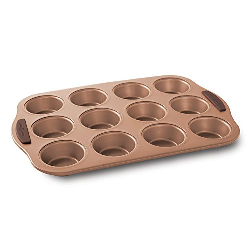 Nordic Ware 48343 12 Cup Freshly Baked Muffin Pan, Copper