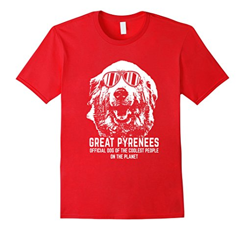 Men's Great Pyrenees Shirt Official Dog of the Coolest People 2XL Red