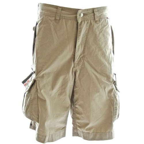b68990b924 Beach Bumpers Mens Cargo Shorts - 100% Cotton Premium Quality Outdoor  Multi-use, 35