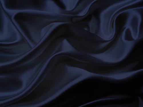 Mk Collection 4pc Soft Silky Satin Solid Color Deep Pocket Sheet Set (Full, Navy Blue)