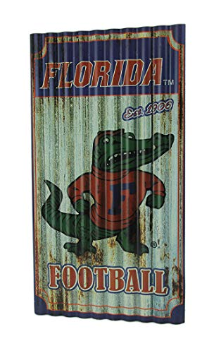 Team Sports America Florida Gators Corrugated Metal Wall Art