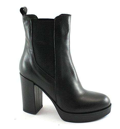 Beatles Women Boots Follie 04 Divine Heel Tronchetti Plateaux Elastic Nero Black TA0 nXF0qwRq