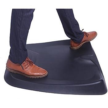 """Ergogo Standing Desk Mat Comfort Mat Not-Flat Anti Fatigue Mat with Calculated Terrain For Office Workroom(26""""x29""""x3"""", black)"""
