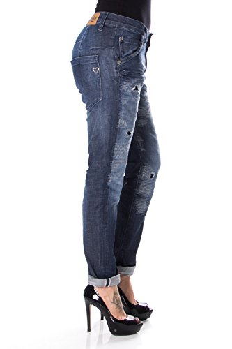 P85abq2eh7 Baggy Denim Jeans Strappato P85 Donna Please wxqUWHX0Zx
