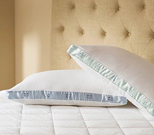 (300 Thread Count Cotton Sateen Medium Density Pillows Set of 2 Comfort Sleep)
