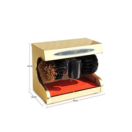 NBVCX Accueil AccessoiresKit de Brosse de Nettoyage pour cireur de Chaussures électrique Entretien et Maintenance des Chaussures en Cuir Kit de Cirage pour Chaussures (Couleur: Gold3) 6