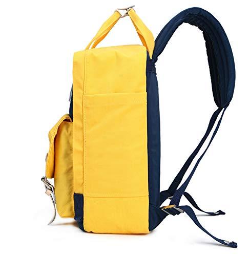 School Color hlh Travel Azul Backpack Oxford Casual Bag Women's Bag Amarilla Mostaza Cloth color xYq0P1fwS