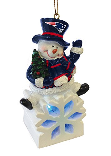 New England Patriots Snowman LED Ornament