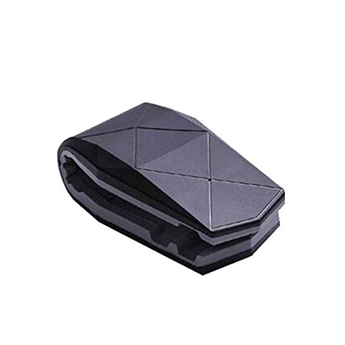 Car Dashboard Mobile Alligator Clip Bracket Desktop Phone Holder Stand Anti-Slip Phone Acces (Black Grey)