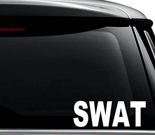 SWAT Team Police Decal Sticker For Use On Laptop, Helmet, Car, Truck, Motorcycle, Windows, Bumper, Wall, and Decor Size- [12 inch] / [30 cm] Wide / Color- Gloss White