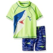 Carter's Baby Boys' Rashguard Set, Yellow Shark, 9 Months