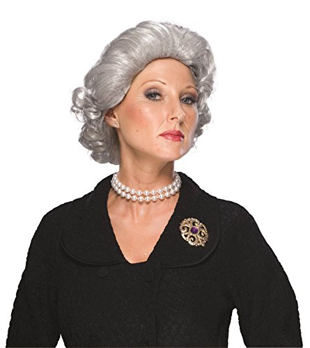 [Rubie's Costume Queen Wig, White, One Size] (Old Grandma Costumes)