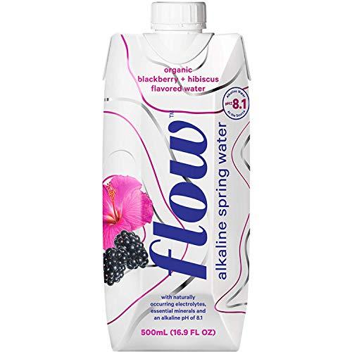 Flow Alkaline Spring Water - 100% naturally alkaline spring water in eco-friendly packaging - (Pack of 12 x 500ml)