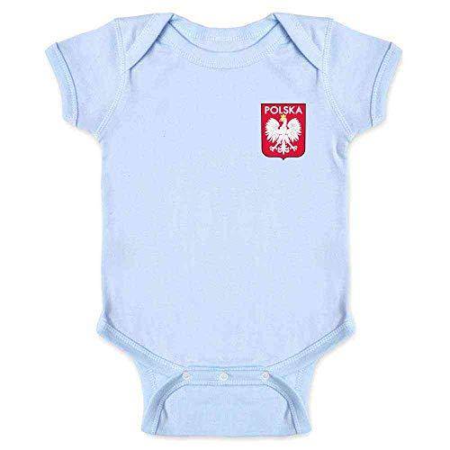 (Poland Soccer Retro National Team Sport Football Light Blue 18M Infant Bodysuit)