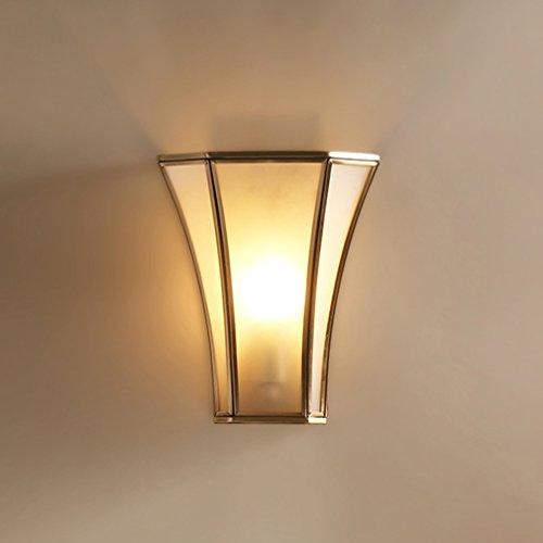 1411 Applique murale américaine lampe de chevet escalier couloir allée mur lampe s'allume créatif salon éclairage cuivre chambre lampe XQQQ