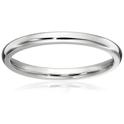 - LOVE Beauties Athena Jewelry Titanium Series 1.5 MM Titanium Comfort Fit Wedding Band Ring Classy Domed Ring (7)