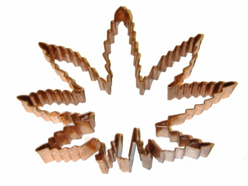 The Cannabis Cutter-Copper Marijuana Leaf Cookie/Fondant Cutter (Cutter Cookie Copper Leaf)