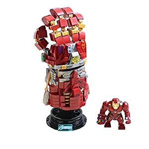 XXF Iron Man Building Blocks Infinity Gauntlet Gloves Building Blocks 629 Pcs Puzzle Building Bricks Creative Assembled Toys.