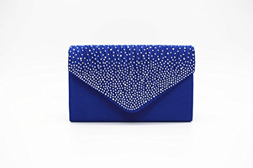 Daorier 13cm Hot 5 Sac À Mariage Bleu Wardrobe Enveloppe Mariée Satiné 21 Soirée 5 Flirty 21 13 Diamant Main nbsp;cm D'embrayage Red RrAXqR