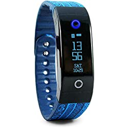 Tushi Pal Smart Fitness Tracker, Heart Rate Monitor & Activity Wristband - Uniquely Created with Indigenous Mayan Artisans + Sleep Monitor & Wireless Bluetooth 4.0 for Android and iOS