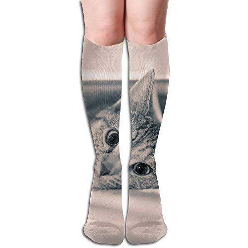 Tube High Keen Sock Boots Crew Gray Cat Compression Socks Long Sport Stockings by Curitis