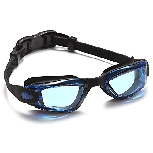 Siren Anti-Fog Kids Swimming Goggles with Nose Clip and Ear Plugs in Protective Case - Choose Your Color