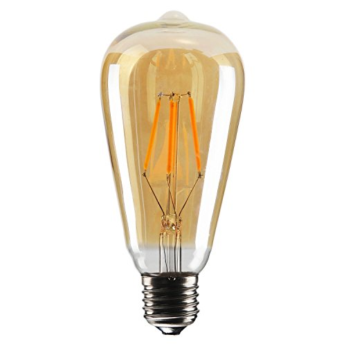 Dimmable Vintage Edison LED Bulb, 4W 40W ST64 Antique LED