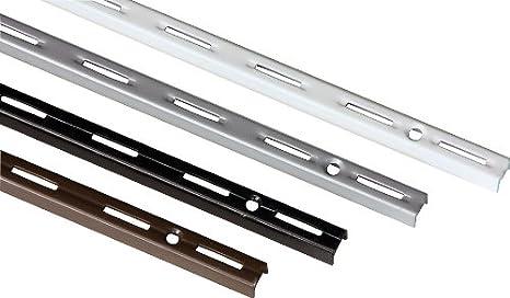 Einreihiges System IB-Style 4 Farben 6 Abmessungen 2 St/ück Wandschiene single MADE IN GERMANY f/ür Regaltr/äger Regalsystem Winkel Regalhalter Regalwinkel L 14,5 cm weiss