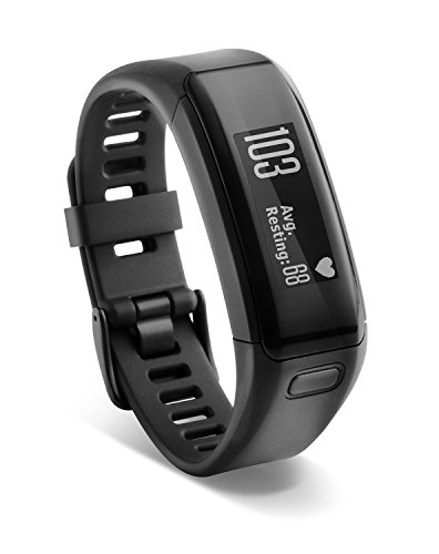 Garmin vívosmart HR Activity Tracker Regular Fit - Black (Certified Refurbished)