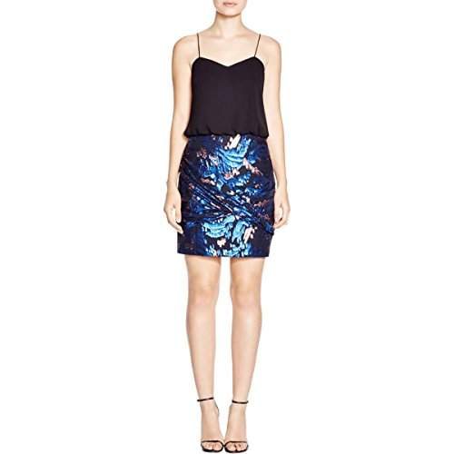 Aqua Womens Metallic Cocktail Dress Black 12