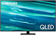 SAMSUNG 55-Inch Class QLED Q80A Series - 4K UHD Direct Full Array Quantum HDR 12x Smart TV with Alexa Built-in