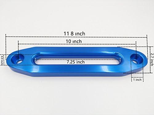 ZESUPER Universal 10 Aluminium Hawse Fairlead for 8000-13000LBS Winch