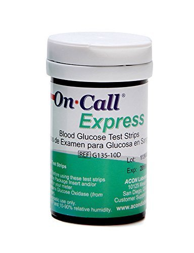 On Call Express Blood Glucose Diabetic Test Strips- 200 count Value Bundle (4boxof50)