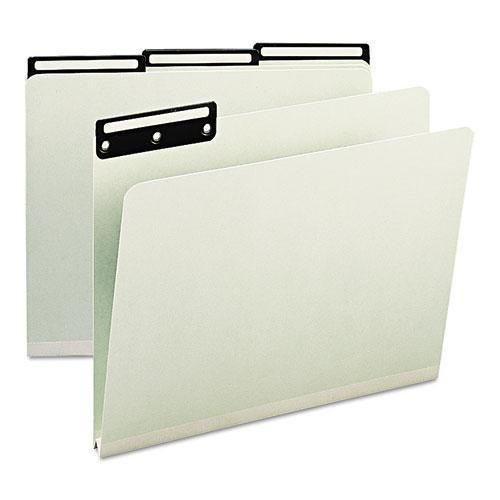 SMD13430 - Smead 13430 Gray/Green Colored Pressboard File Folders by Smead