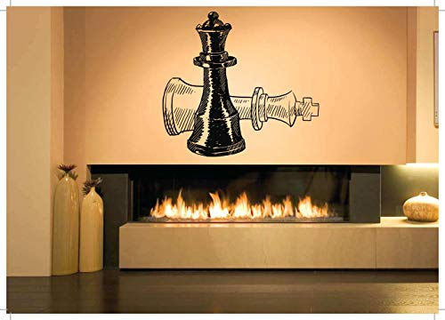 Vinyl Sticker Chess Figures Pieces Pawn Rook Knight Bishop Queen King Game Checkmate Chessboard Poster Mural Decal Wall Art Decor SA1991 ()