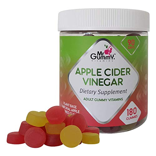Mr Gummy Apple Cider Vinegar Gummies (180-Count) Promote Fast Fat Burning Weight Loss, Gentle Colon Detox and Cleanse | Appetite Suppressant for Women, Men (Best Weight Loss Gummies)