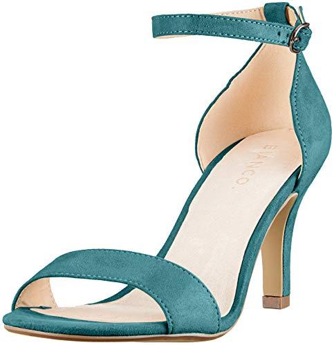 Con petrol Sandali 381 Alla Low Donna Cinturino Bianco Caviglia Basic Verde fqxtpz4