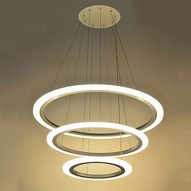 lpan Anillo 3 LED forma DIY colgante acrílico luz lámparas ...