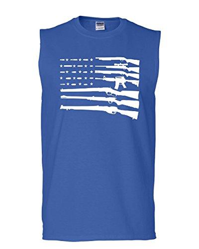 - Tee Hunt American Flag Muscle Shirt 2nd Amendment Gun Rights Homeland AR15 Blue XL