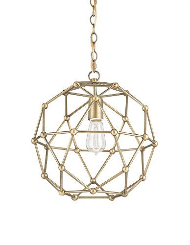 Currey and Company 9704 Percy - One Light Small Chandelier, Antique Brass Finish