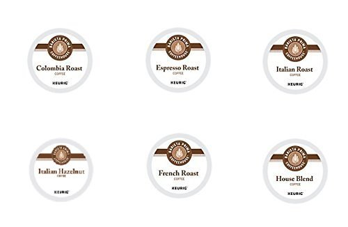 30 Count - Barista Prima Coffeehouse Variety K-Cup Packs For Keurig K Cup Brewers and 2.0 Brewers (6 varieties, 5 K-Cups each)